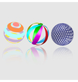 Abstract geometry spheres vector image