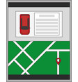 autonomus car design vector image