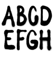 Detailed graffiti spray paint font type part 1 vector image
