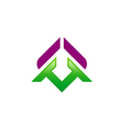 Geometry color abstract logo vector image