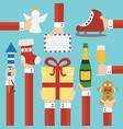merry christmas and new year concept flat design vector image