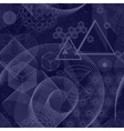 Sacred geometry symbols seamless pattern vector image