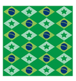 Seamless pattern with Brazilian flag vector image