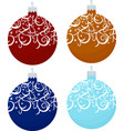 set of decorative christmas balls isolated on vector image