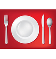 Dining Table Set Up vector image vector image
