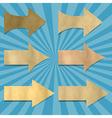 Vintage Sunburst Paper With Arrows Set vector image vector image