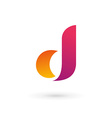 Letter d logo icon vector image