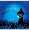 circles crowd hands guitar vector image