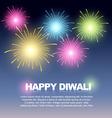 diwali fireworks vector image