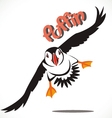 puffin bird 3 vector image vector image