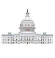 capitol building vector image
