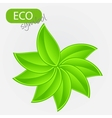 Environmental icon with plant vector image