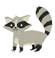 Funny cartoon raccoon mascot vector image