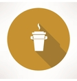 paper coffee cup icon vector image