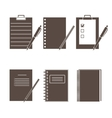 Set of icons of office supplies vector image