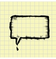 sketch speech bubble vector image