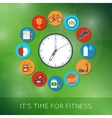 Time for fitness vector image