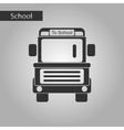 black and white style icon of school bus vector image