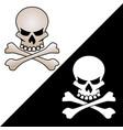 skull and crossed bones logo vector image