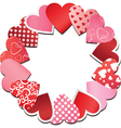 paper heart frame vector image vector image