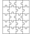 white puzzle 2 vector image
