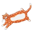 Cute orange cat sketch for your design vector image