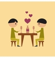 flat icon on stylish background gay romantic vector image