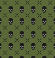 green skull background vector image vector image