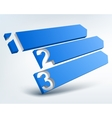 Abstract numbered banners with place for text vector image