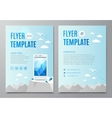 Design layout flyer book cover with modern white vector image