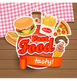 Fast food design template vector image