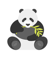flat style of panda vector image