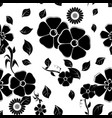 floral seamless pattern black vector image