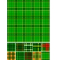 Tartan plaid seamless 10 patterns vector image