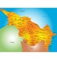 Caspian region countries vector image vector image