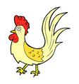comic cartoon cockerel vector image