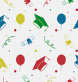 Seamless Graduation Celebration Pattern Background vector image