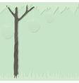cutout tree green 1 vector image