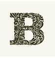 Elegant capital letter B in the style Baroque vector image