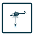 Fire service helicopter icon vector image