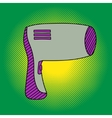 Hairdryer Pop art vector image