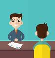 Interview a businessman Employment recruitment vector image