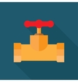 Pipe fitting icon vector image