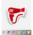 realistic design element hair dryer vector image