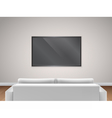 sofa and TV back view vector image