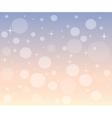Christmas snowfall at dawn vector image