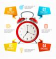alarm clock menu infographic option banner card vector image
