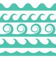 turquoise waves set on white background vector image
