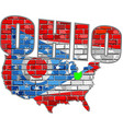 ohio on a brick wall vector image