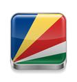Metal icon of Seychelles vector image